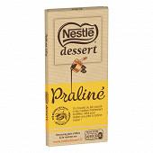 Nestlé Dessert tablette de chocolat au lait praliné 170g