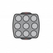 CRISPYBAKE Moule 9 muffins silicone rétractable 30X29 cm