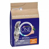 PURINA ONE Croquettes pour chat adulte - au Poulet et Céréales Complètes - 3 KG