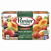 Panier de Yoplait standard fruits panaché 16x130g