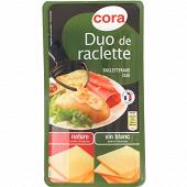 Cora raclette duo nature et vin blanc 400g
