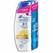 Head & Shoulders shampooing citrus anti-pelliculaire 2en1 3x270ml