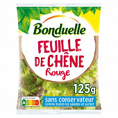 Bonduelle salade tendres feuilles de chêne rouge sachet 125g