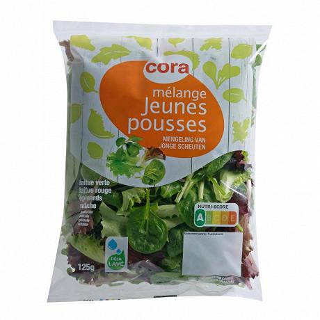 Cora salade mélange jeunes pousses sachet 125g
