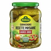 Kühne cornichons aigre-doux recette paysanne 360g