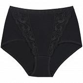 Culotte maxi coton dentelle NOIR RCT T56