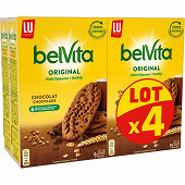 Belvita petit déjeuner biscuits chocolat 4x400g