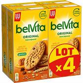 Belvita petit déjeuner original miel et pépites de chocolat 4x435g