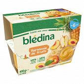 Bledina coupelles fruits harmonie de fruits dès 6 mois 4x100g