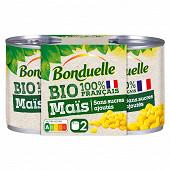Bonduelle maïs bio sans sucre ajoutés 1/4x2 280g