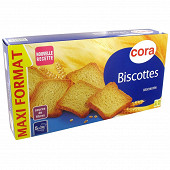 Cora biscottes nature 100 tranches 830g