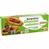 Cora barquette au chocolat noisette Kido  120g