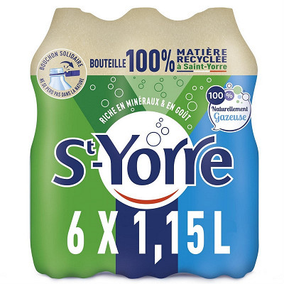 St Yorre St yorre eau minerale naturelle naturellement gazeuse 6x1.15l