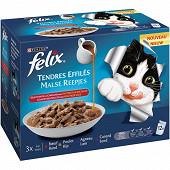 FELIX Tendres Effilés - sachets repas pour chats adultes Sélection de la Campagne 12x85g