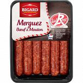 Merguez Label Rouge 6x55g Bigard