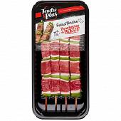 Brochettes de boeuf Extra tendre x4 320g Tendre & Plus