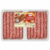 Chipolatas pur porc x12 660g Cora