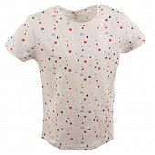 Tee shirt manches courtes fille blanc WHITE HEART/HELLO 12 ANS
