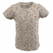 Tee shirt manches courtes fille GRIS UNICORN AOP 6 ANS