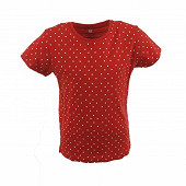 Tee shirt manches courtes fille rouge pois RED DOTS 14 ANS