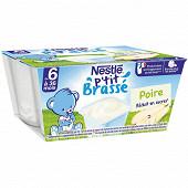 Nestlé p'tit brassé poire dès 6 mois 4x100g