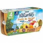 Nestlé naturnes fruits du verger dès 6 mois 4x130g