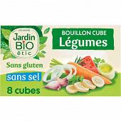 Jardin bio etic bouillon cubes légumes sans sel ajouté 80g