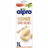 Alpro Lait d Amande Blanche   sans sucres 1l