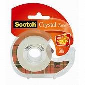 Scotch - Ruban crystal 25mx19mm 1 rouleau dévidoir + 5 mètres offerts