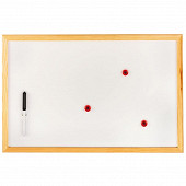Tableau magnétique blanc 60x40cm avec feutre et aimants
