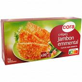 Cora 20 crêpes jambon fromage 1kg (20 x 50g)