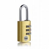 Yale cadenas laiton à combinaison 30mm anse acier 3 chiffres