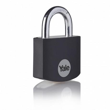 Yale cadenas aluminium 32mm noir anse acier 3 clés