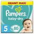 Pampers baby dry langes geant maxi taille 5 80ct