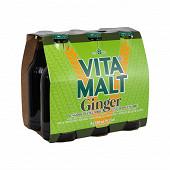 Vitamalt gingembre boisson maltée sans alcool pack 6x33cl