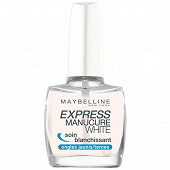 Gemey maybelline vernis à ongles white NU logo alarm