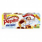 Lu pépito mini choco 6 sachets de 6 biscuits soit 225g