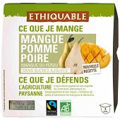 Ethiquable dessert purée de mangue poire bio 4x100g