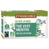 Ethiquable thé vert à la menthe bio 36g