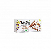 Naten Sans Gluten & Bio Bâtonnets enrobés chocolat au lait 130g