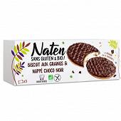 Naten biscuits aux graines et nappés choco noir sans gluten et bio 150g