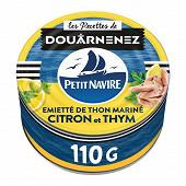 Petit Navire thon mariné citron & thym 110g