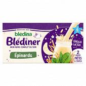 Blédina blédiner lait et légumes épinards dès 6 mois 2x25cl