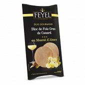 Feyel Duo gourmand bloc de foie gras de canard au Muscat d'Alsace 80g
