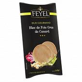 Feyel Duo gourmand bloc de foie gras de canard 2 tranches de 40g