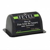 Feyel bloc de foie gras de canard avec morceaux barquette 200g