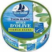 Petit navire thon blanc à l'huiled'olive vièrge extra msc 104g net égouté