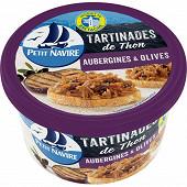 Petit navire les tartinades de thon aubergines & olives 125g