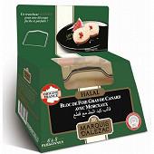 Marquis d'Alézac Bloc de foie gras de canard Halal avec morceaux + lyre 290g