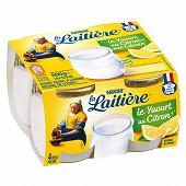 La Laitière Yaourt au lait entier citron 4x125g